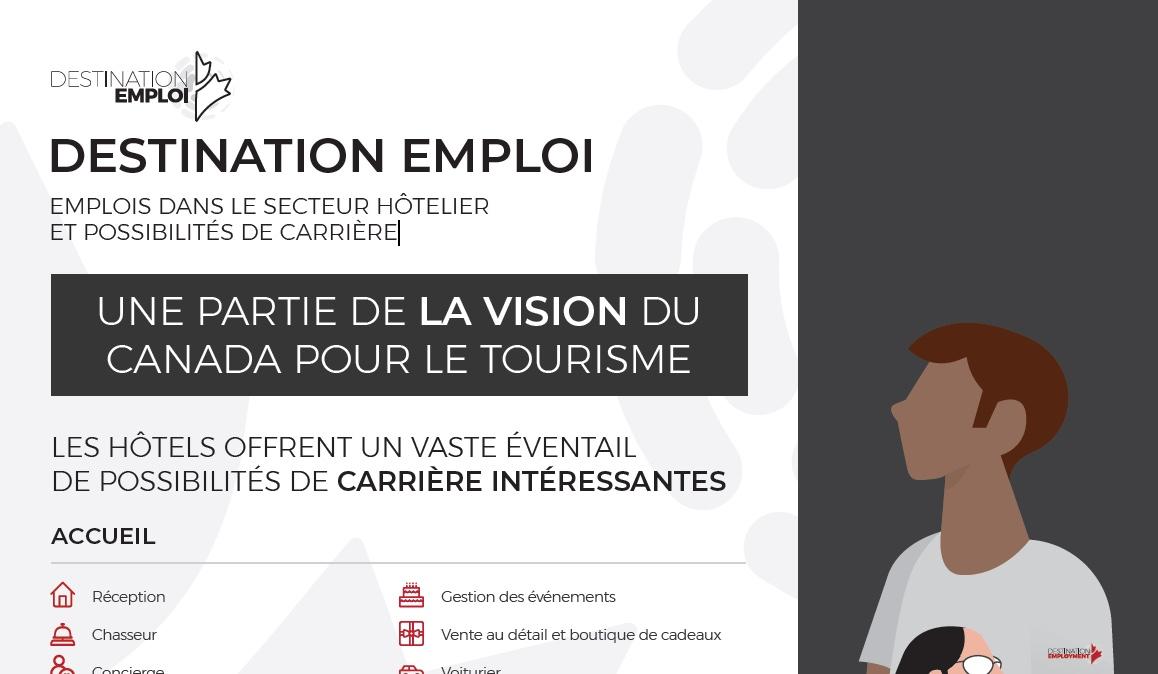 Emplois dans le secteur hotelier et possibilités de carrière (infographie)