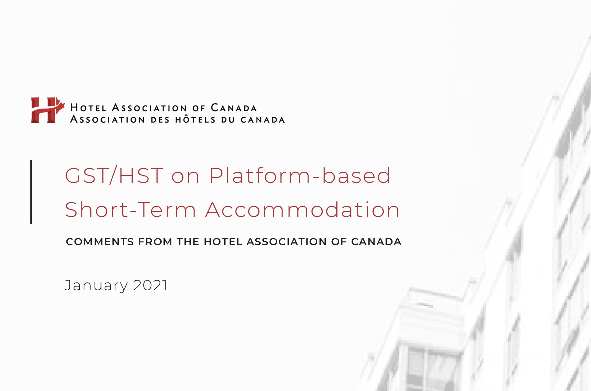 GST/HST on Platform-based Short-Term Accommodation